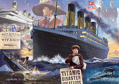Titanic - Landscape Poster by MGL Meiklejohn Graphics Licensing