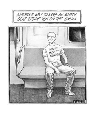 Title: Another Way To Keep An Empty Seat Poster by Matthew Diffee