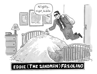 Title: Eddie The Sandman Fasolino. A Mobster Poster