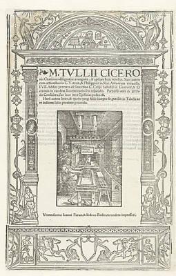 Title Journal Of Ciceros Orationes, Marcus Tullius Cicero Poster by Marcus Tullius Cicero And Jodocus Badius And Jehan Petit