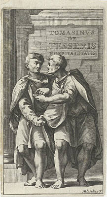 Title Page For A Treatise On Friendship In Ancient Society Poster