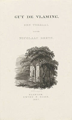 Title Page For Nicolaas Beets, Guy De Vlaming 1837 Poster by Henricus Wilhelmus Couwenberg