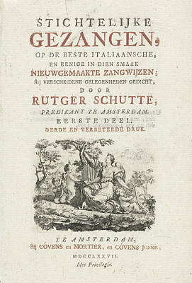 Title Page For R. Schutte, Devotional Songs Poster