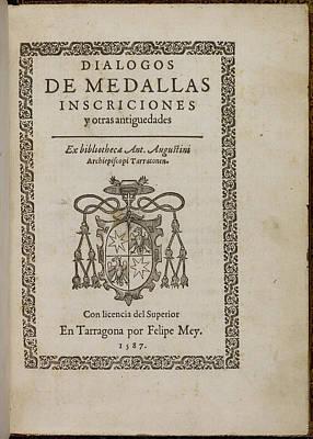 Title Page Of 'dialogos De Medallas' Poster