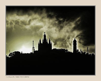 Poster featuring the photograph Tividabo. Dramatic Sunset by Pedro L Gili