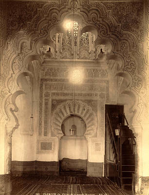 Tlemcen, The Mihrab Of The Great Mosque In Algiers Poster by Litz Collection