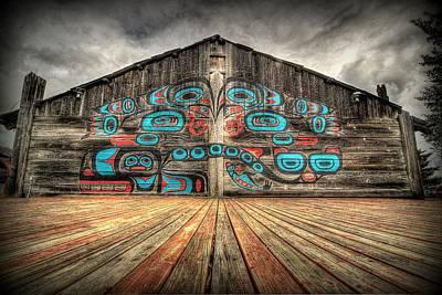 Tlingit Tribal House Haines Alaska Poster by Ryan Smith