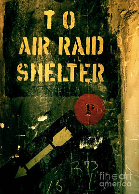 To Air Raid Shelter Poster by James Aiken