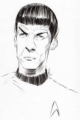 Poster featuring the drawing To Boldly Go...... by Tu-Kwon Thomas