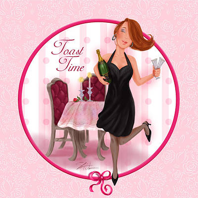 Toast Time Poster by Shari Warren