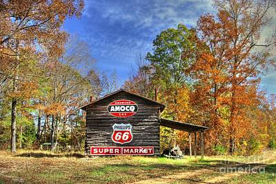 Tobacco Barn Memories Poster by Benanne Stiens