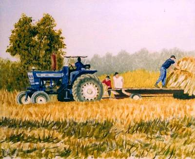 Poster featuring the painting Tobacco Farmers by Stacy C Bottoms