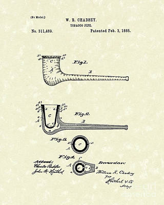 Tobacco Pipe 1885 Patent Art Poster