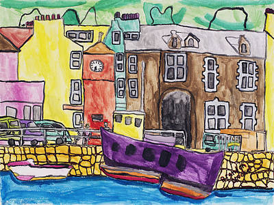 Poster featuring the painting Tobermory by Artists With Autism Inc