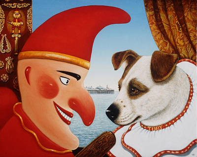 Toby And Punch, 1994 Oils And Tempera On Panel Poster by Frances Broomfield
