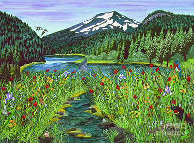 Todd Lake Mt. Bachelor Poster by Jennifer Lake