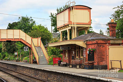 Toddington Railway Station In Gloucestershire Poster by Louise Heusinkveld