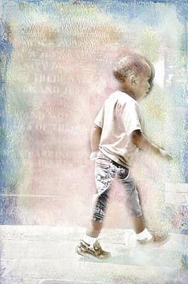 Poster featuring the digital art Toddler On The Prowl by Davina Washington