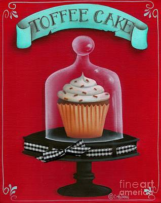 Toffee Cake Cupcake Poster by Catherine Holman