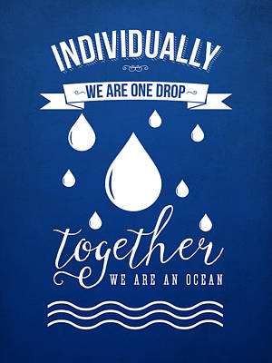 Together We Are An Ocean Poster by Aged Pixel