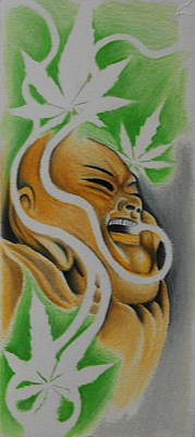 Tokin' Budha Poster by Photos by Staci Art by Douglas