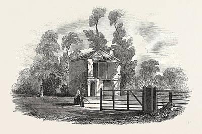 Toll House, Near Gloucester, Struck Ry Lightning Poster