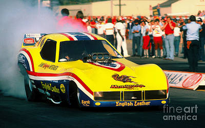 Tom The Mongoose Mc Ewen Corvette Funny Car Poster by Howard Koby