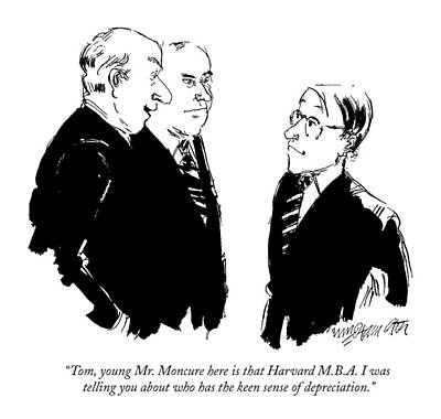 Tom, Young Mr. Moncure Here Is That Harvard Poster by William Hamilton