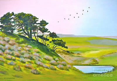 Poster featuring the painting Tomales California by K L Kingston