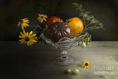 Tomato Cocktail Poster by Elena Nosyreva