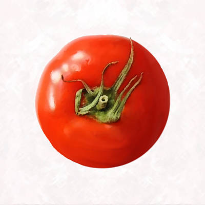 Poster featuring the digital art Tomato by David Blank