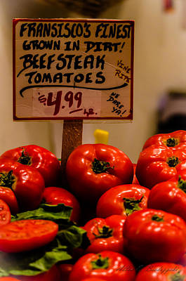 Poster featuring the photograph Tomatoes by Allen Biedrzycki