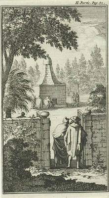 Tomb Of St. George, The Gatekeeper To Damascus Poster by Jan Luyken And Charles Angot