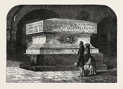 Tomb Of The Late Duke Of Wellington In The Crypt Of St Poster by English School