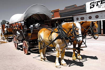 Tombstone Wagon Poster
