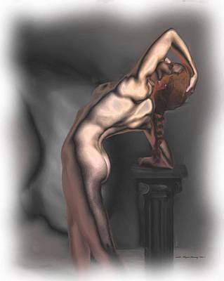 Toned Female Body Poster by Wayne Bonney