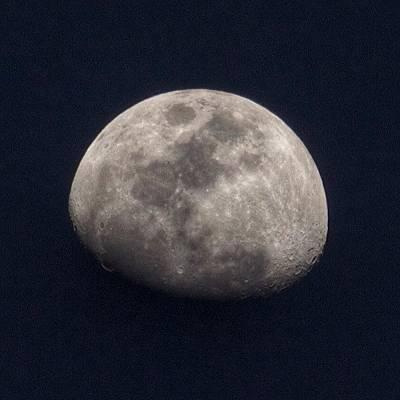 Tonight's Gibbous Moon #moon #night Poster