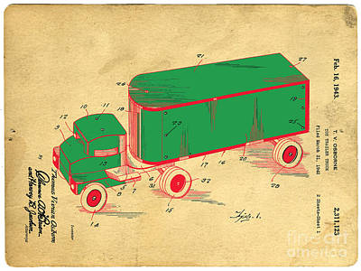 Tonka Truck Patent Poster by Edward Fielding