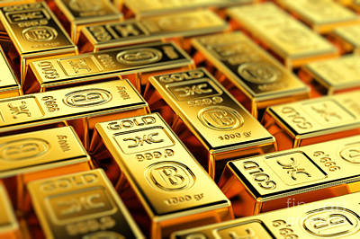 Tons Of Gold Poster by Carsten Reisinger