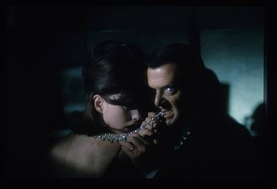 Tony Randall Biting A Cartier Necklace Poster by Sante Forlano