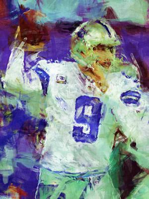 Tony Romo Abstract 2 Poster by David G Paul