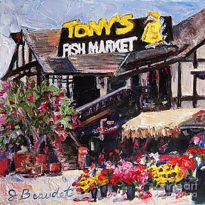 Tony's On The Redondo Pier Poster by Jennifer Beaudet