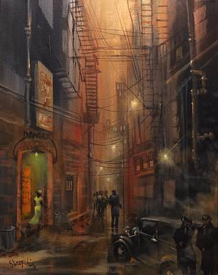 Tooker Alley Chicago Poster by Tom Shropshire