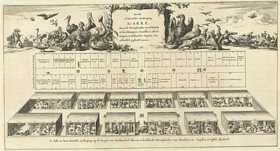 Top Floor Of Noahs Ark, Jan Luyken, Wilhelmus Goeree Poster by Jan Luyken And Wilhelmus Goeree (i)