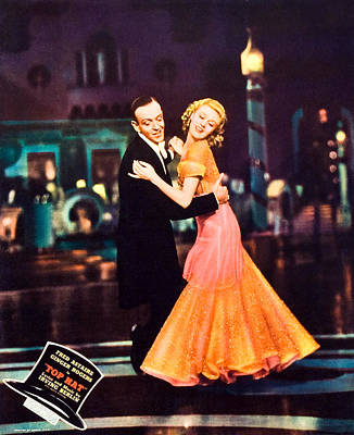 Top Hat, From Left Fred Astaire, Ginger Poster