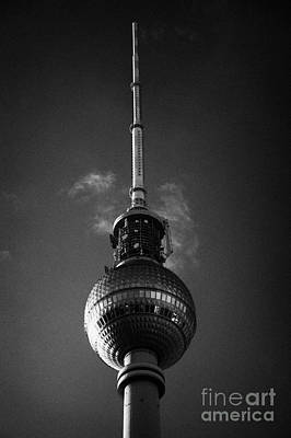 top of the berliner fernsehturm Berlin TV tower symbol of east berlin Germany Poster by Joe Fox
