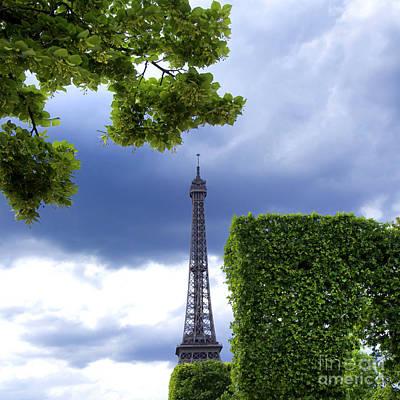 Top Of The Eiffel Tower. Paris. France. Poster by Bernard Jaubert