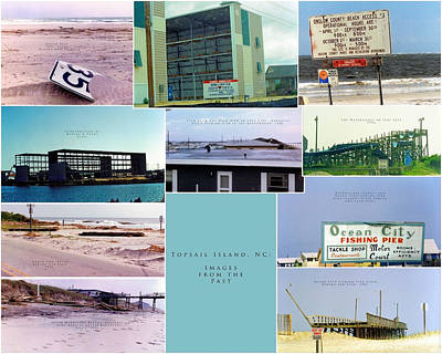 Topsail Island Images From The Past Poster