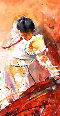 Toreador Poster by Miki De Goodaboom