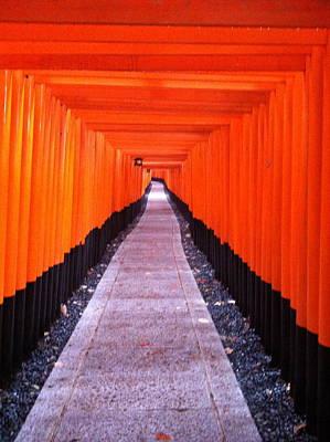 Torii Gates In Fushimi-inari Japan Poster